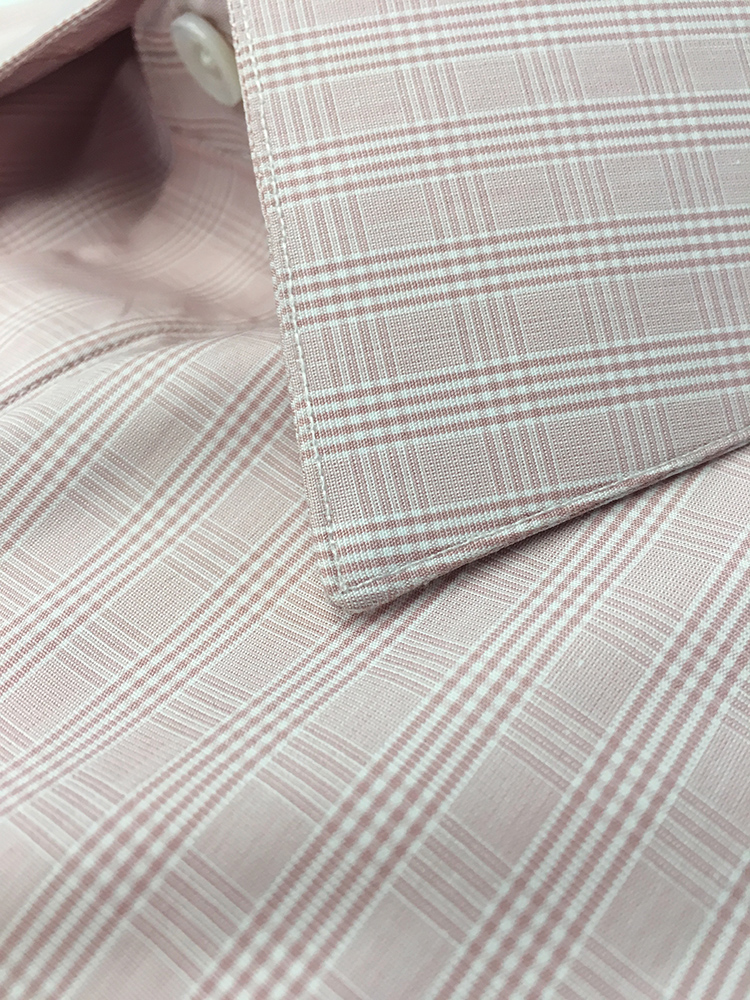Superfine Swiss Cotton plaid for a custom shirt