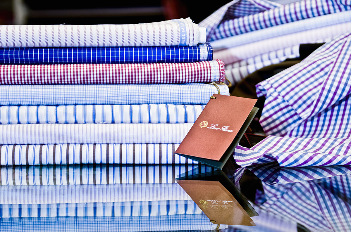 Loro Piana Shirting Fabric for Custom Shirts at Mr. Alex Custom Suits & Shirts Beverly Hills