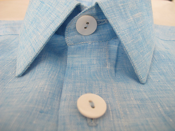 70% Cotton / 30% Linen shirting fabric by Loro Piana - perfect for shirts for business and leisure.