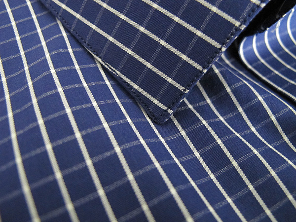 Loro Piana Blue Poplin - a great combination of body and smooth texture.