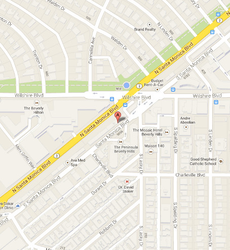 Map of Mr. Alex Beverly Hills location